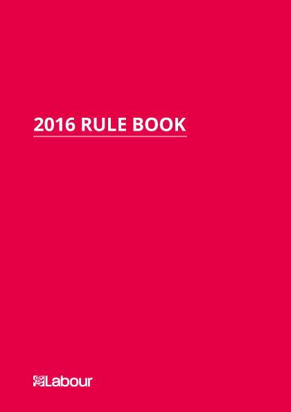 Rule Book 2016