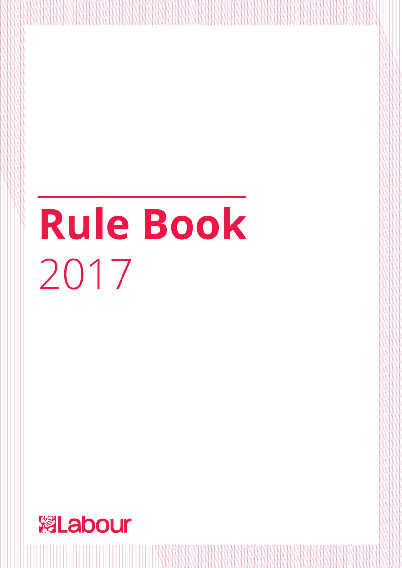 Labour Party rule book 2017