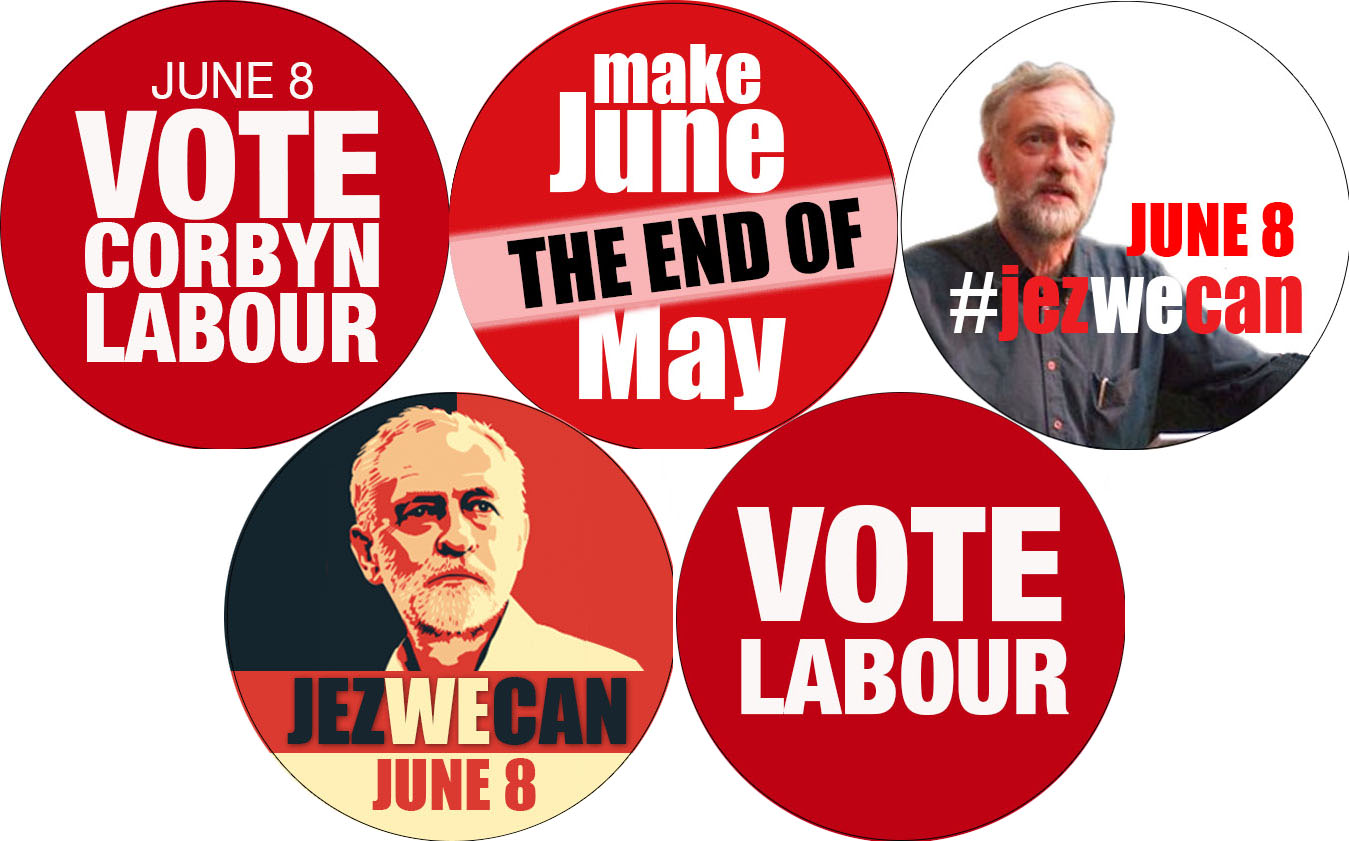 Vote Labour badges