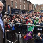 Labour leadership candidate Jeremy Corbyn speaks outside the Tyne Theatre and Opera House, Newcastle, during his campaign. PRESS ASSOCIATION Photo. Picture date: Tuesday August 18, 2015. See PA story POLITICS Labour. Photo credit should read: Owen Humphreys/PA Wire