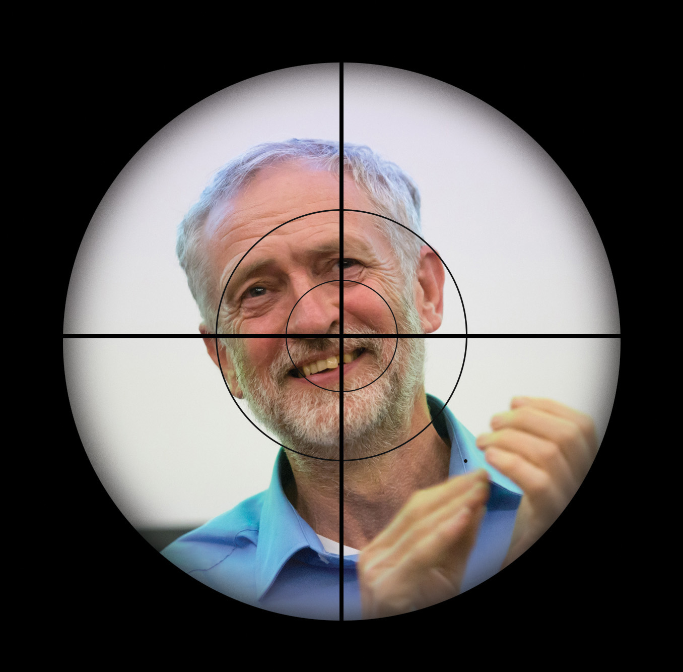 Jeremy Corbyn in the cross hairs