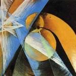 Giacomo Balla: 'Planet Mercury passing in front of the sun' (1914)
