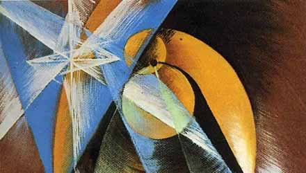 Giacomo Balla: 'Planet Mercury passing in front of the sun' (1914)