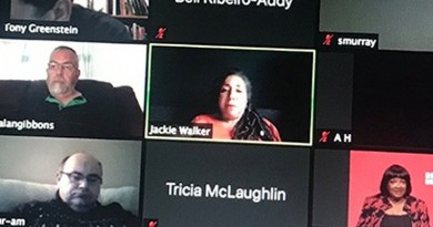 Image of Jackie Walker and other in a Zoom meeting