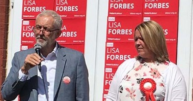 Lisa Forbes and Jeremy Corbyn